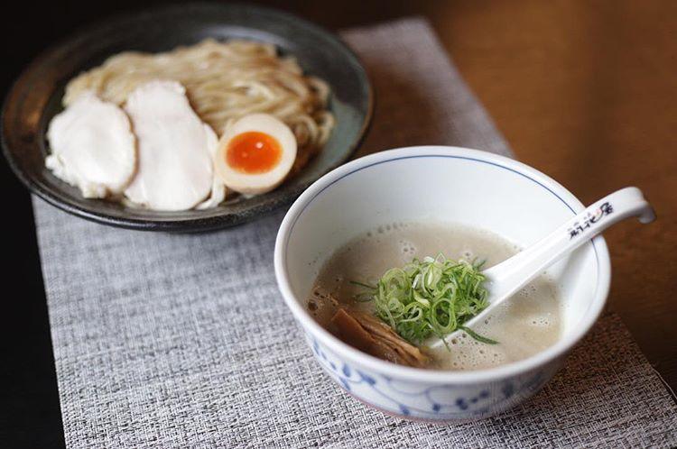 開花屋自慢のつけ麺メニュー『煮干しつけ麺』